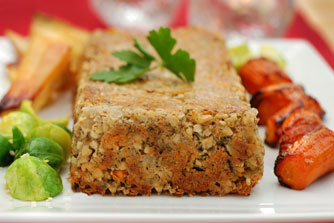 Cashew and Carrot Nut Roast