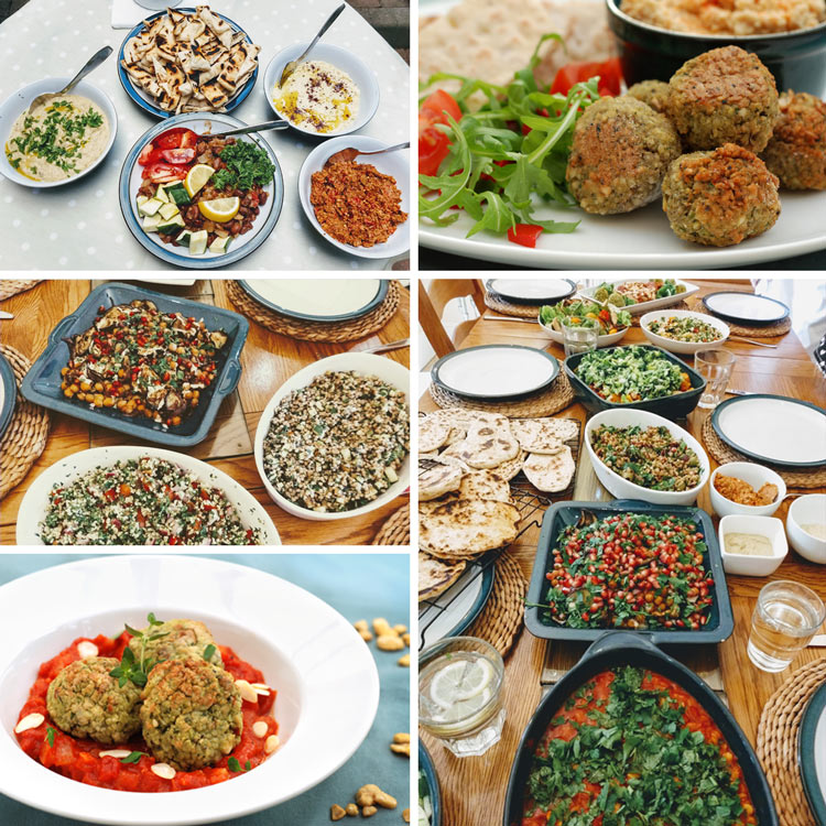 middle eastern vegan dishes