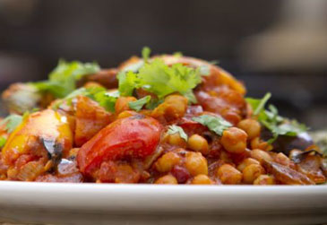vegetarian and vegan recipe - Spicy Chick Pea