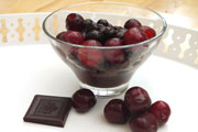 chocolate cherries - vegetarian vegan recipe