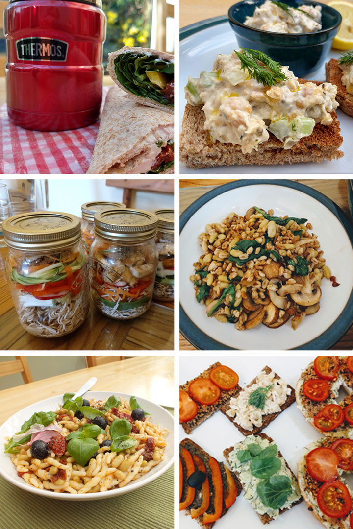 vegetarian packed lunches ideas