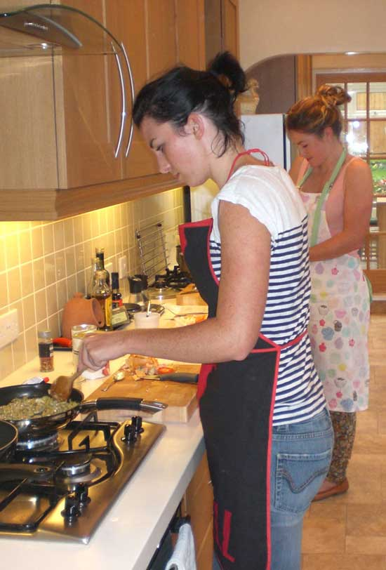 beginners vegetarian vegan cookery class