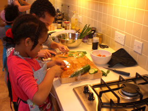 childrens vegetarian cookery course school midlands